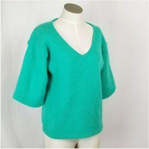 Vintage Sweaters - Vintage sz Large Angora unique minimalist sweater